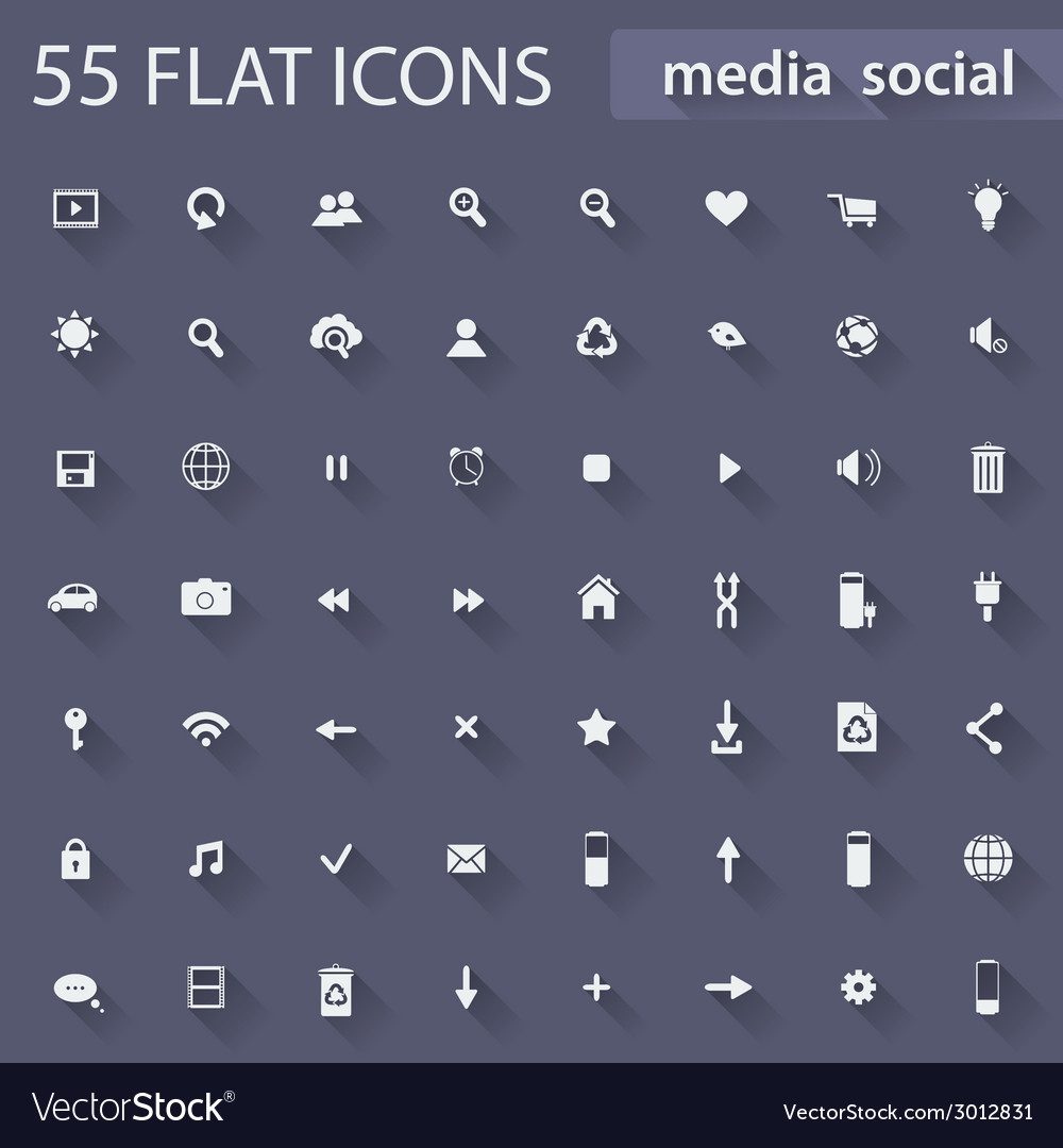 Set of flat icons for web vector | Price: 1 Credit (USD $1)