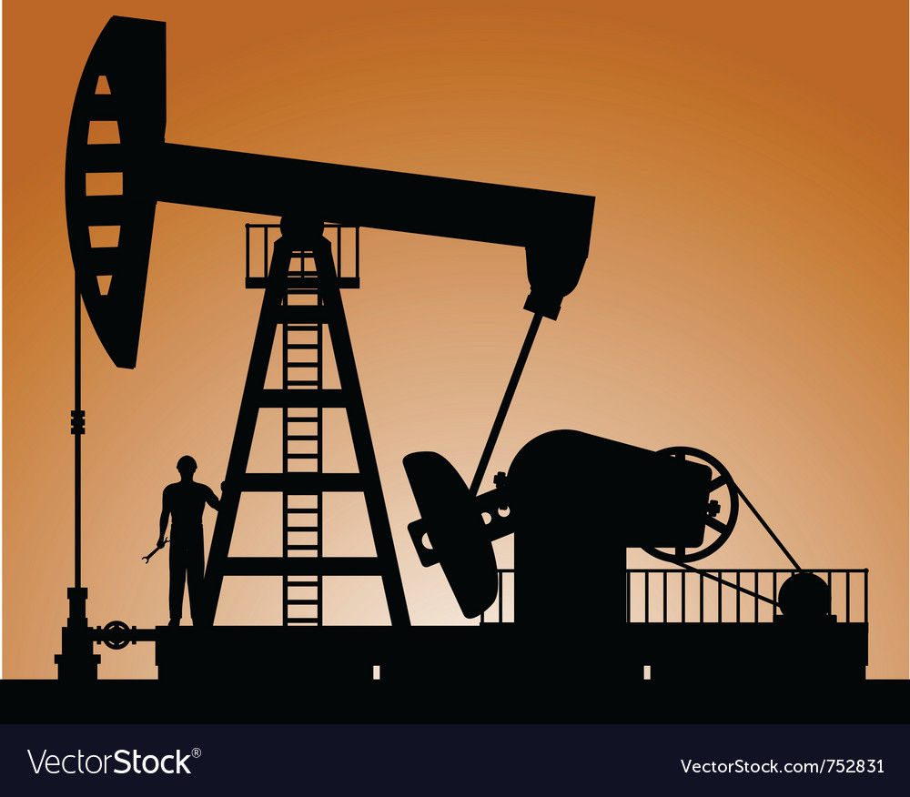 Silhouette of oil pump vector | Price: 1 Credit (USD $1)
