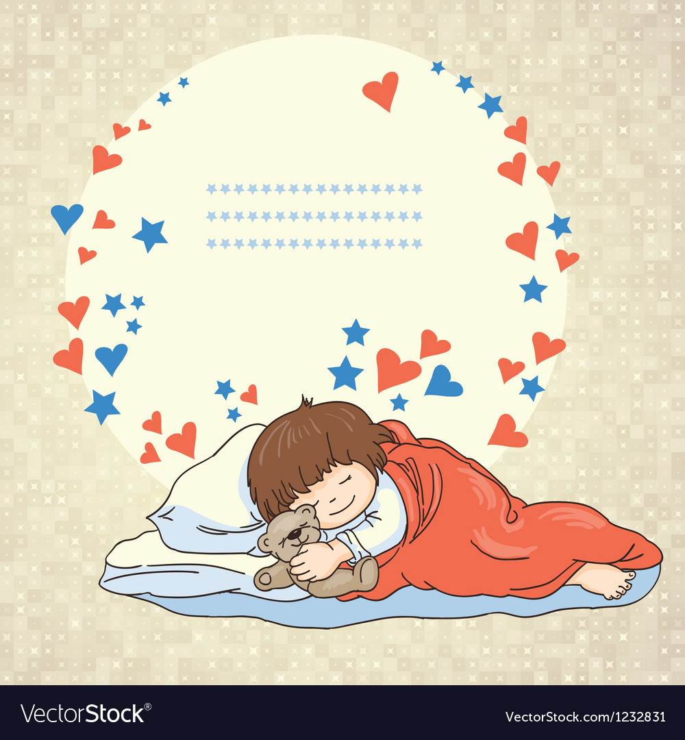 Sleeping baby vector | Price: 3 Credit (USD $3)