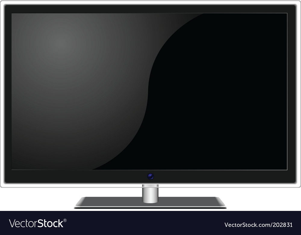 Widescreen tv vector | Price: 3 Credit (USD $3)