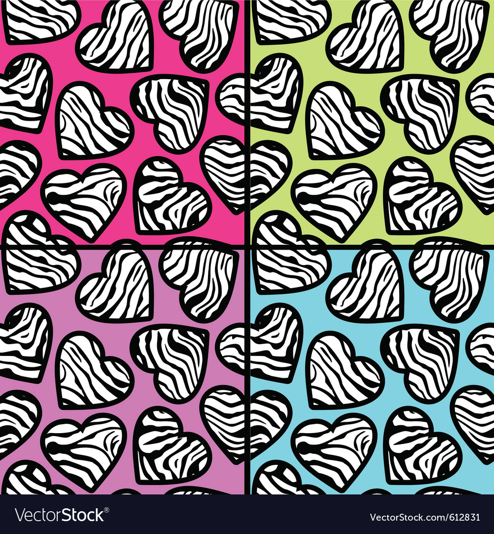 Zebra print backgrounds set vector | Price: 1 Credit (USD $1)