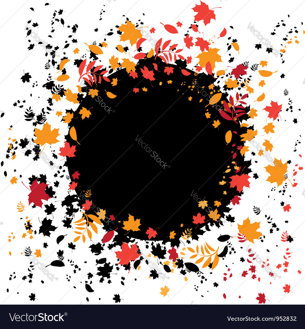 Autumnal frame vector   Price: 1 Credit (USD $1)
