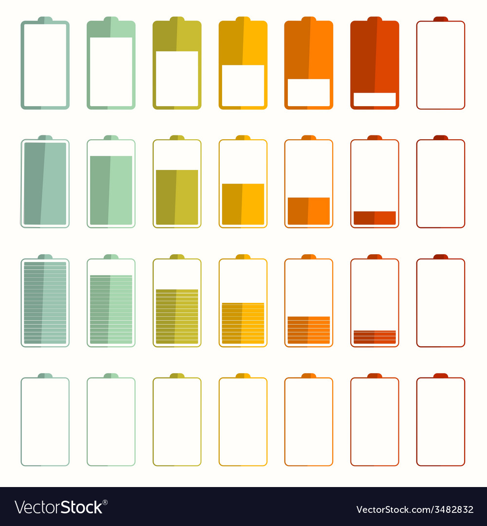 Battery life icons set vector | Price: 1 Credit (USD $1)