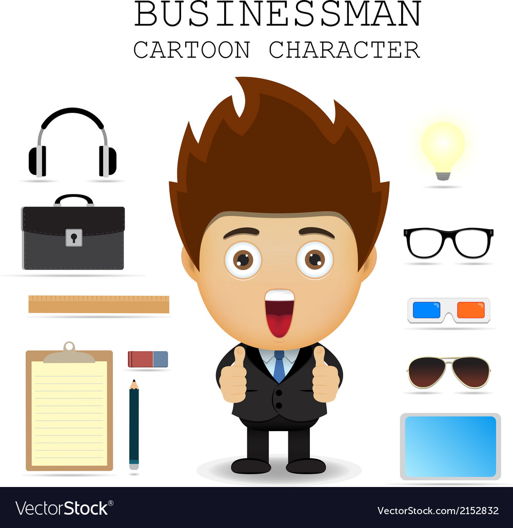 Businessman cartoon character eps 10 vector | Price: 1 Credit (USD $1)