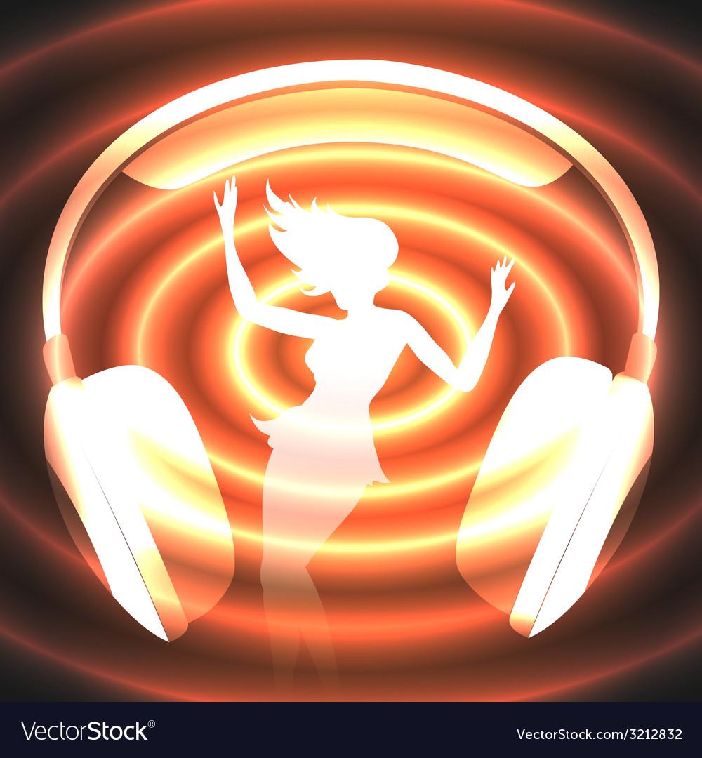 Dancing music vector | Price: 1 Credit (USD $1)
