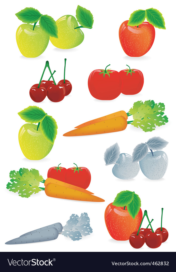 Fruit mix vector | Price: 3 Credit (USD $3)