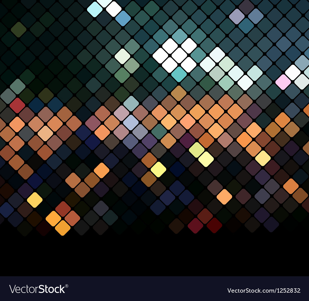 Mosaic neon background vector | Price: 1 Credit (USD $1)