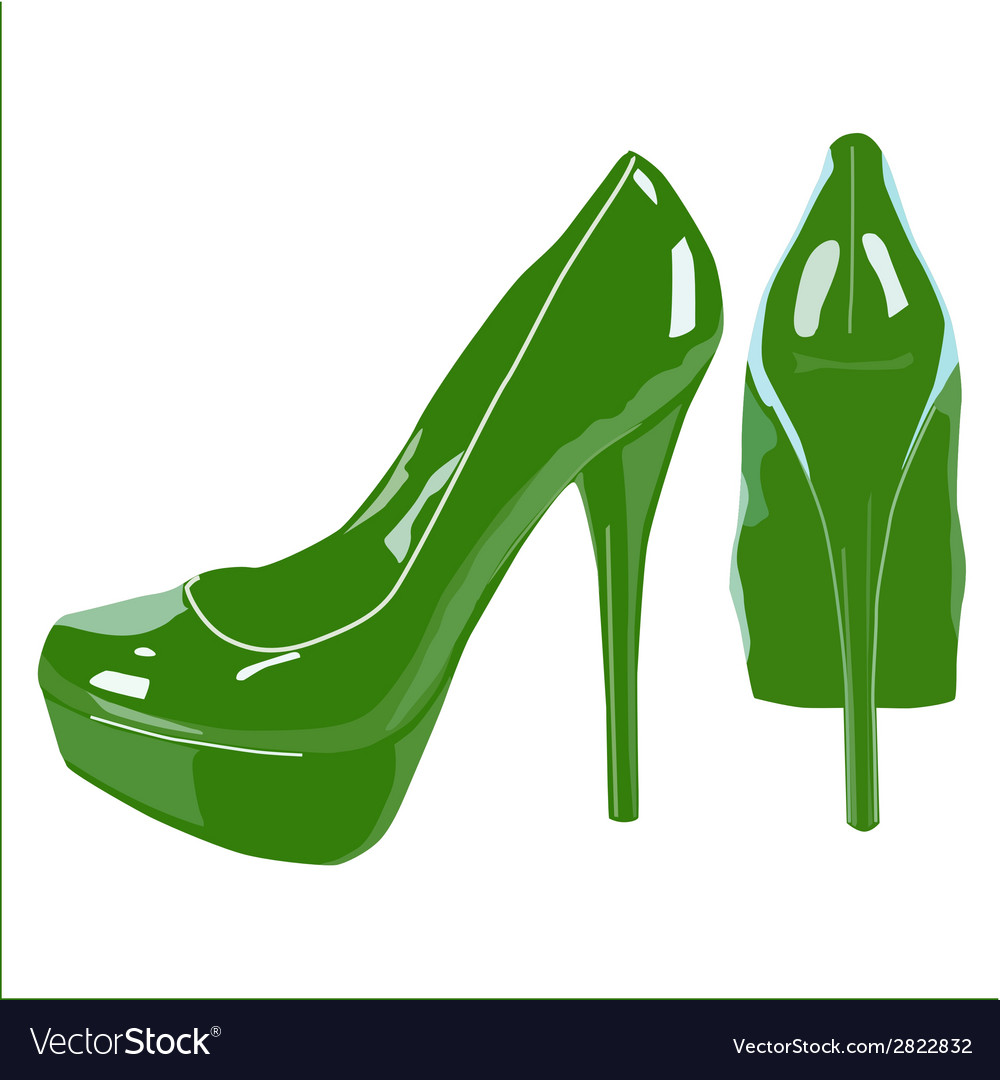 Picture of women shoe on white background vector | Price: 1 Credit (USD $1)