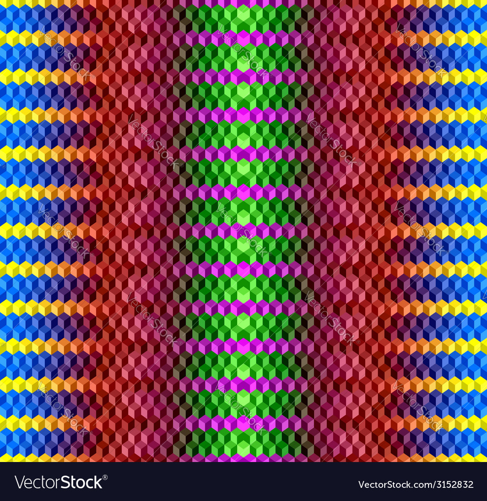 Psychodelic seamless background from cubes vector | Price: 1 Credit (USD $1)