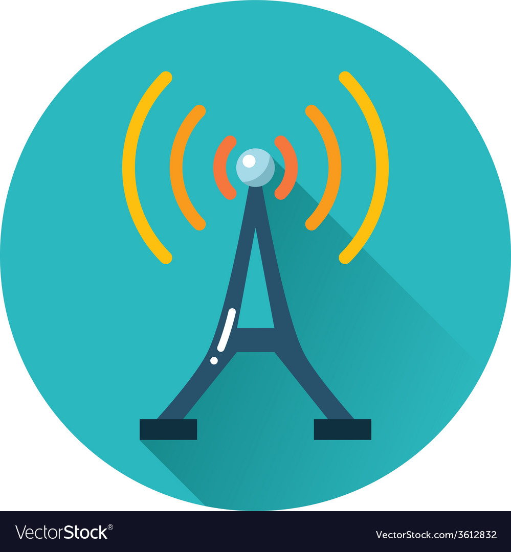 Radio tower icon vector | Price: 1 Credit (USD $1)