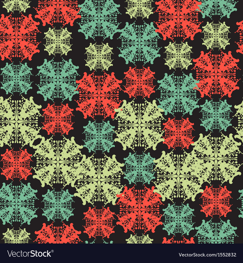 Seamless pattern with abstract snowflake vector | Price: 1 Credit (USD $1)