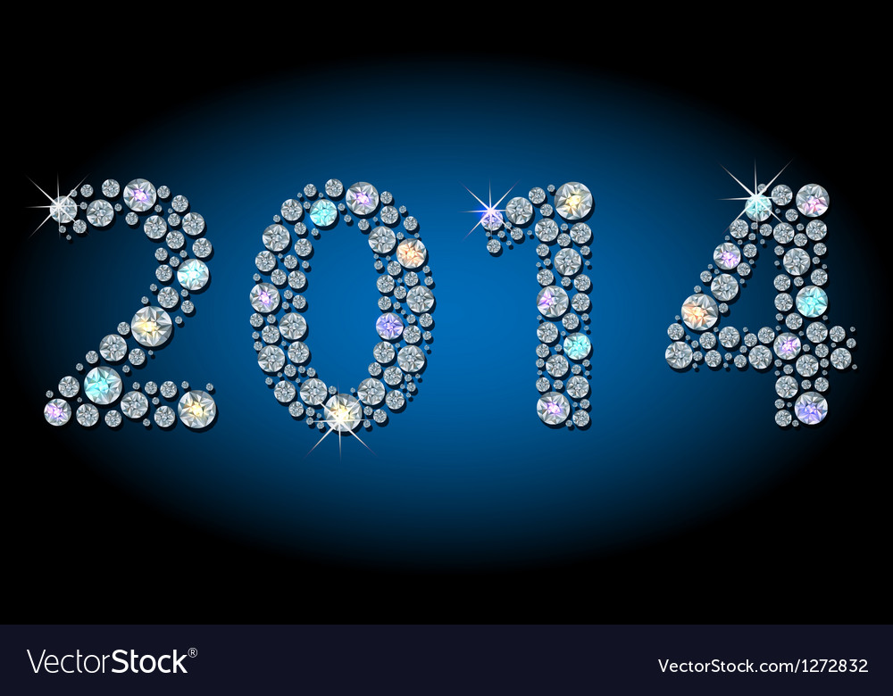 Shiny 2014 year-number vector | Price: 1 Credit (USD $1)