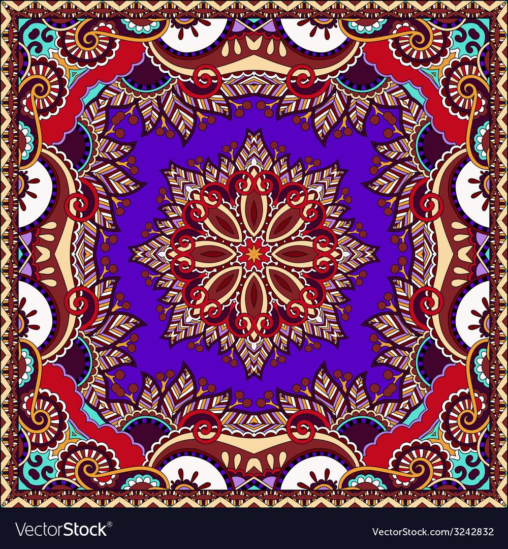 Silk violet colour neck scarf vector | Price: 1 Credit (USD $1)