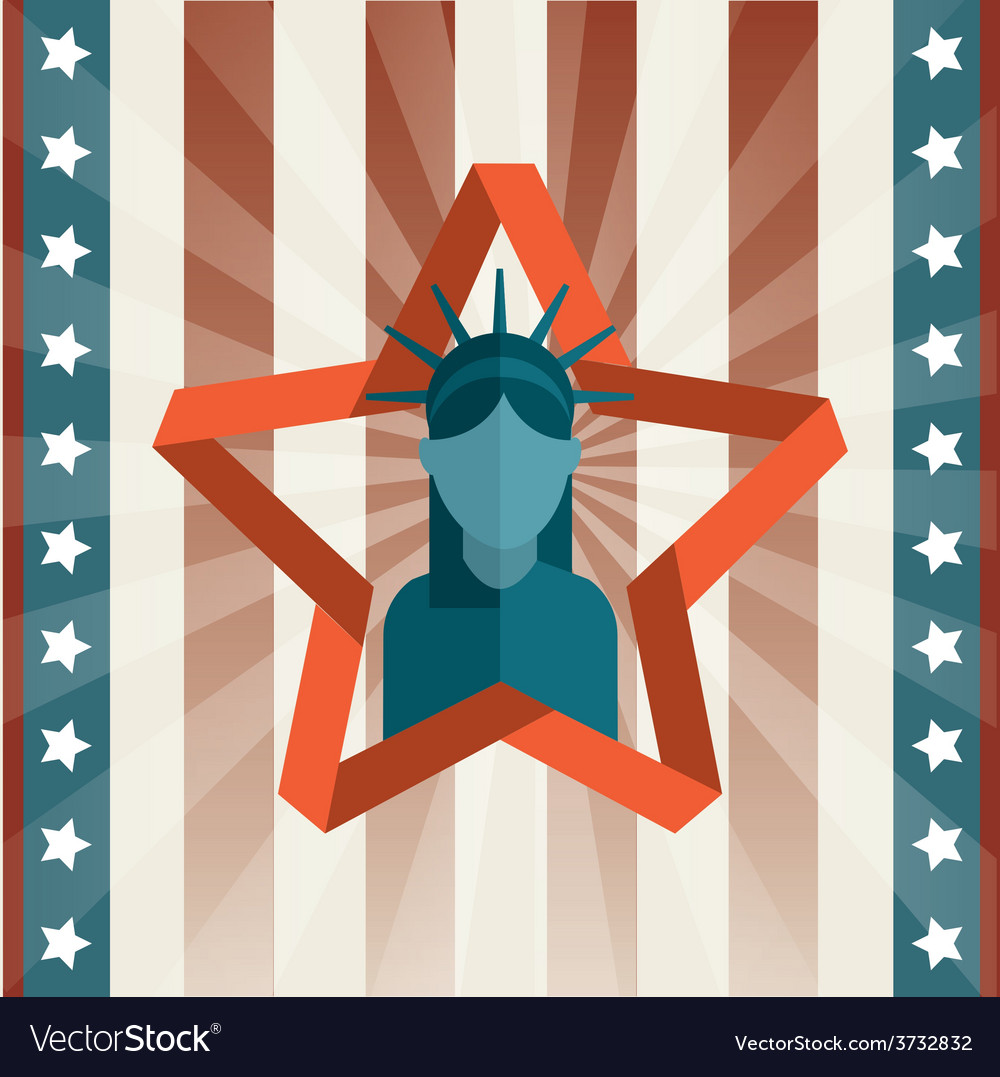 Usa poster vector | Price: 1 Credit (USD $1)