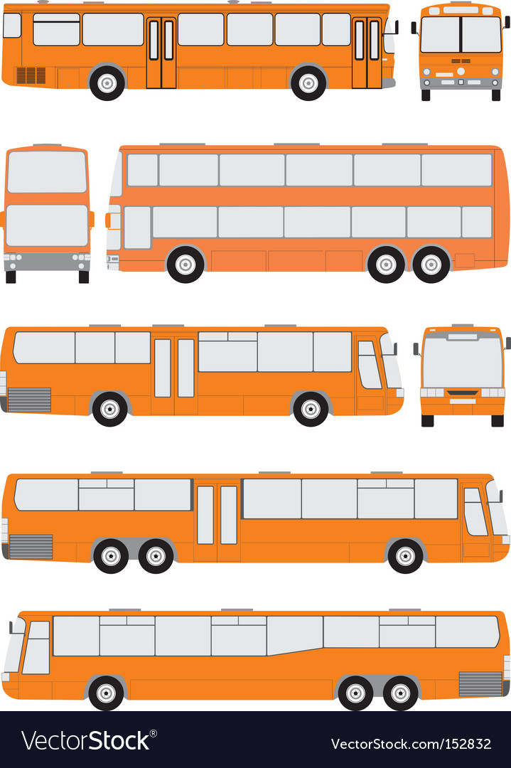 Vehicle bus shapes vector | Price: 1 Credit (USD $1)