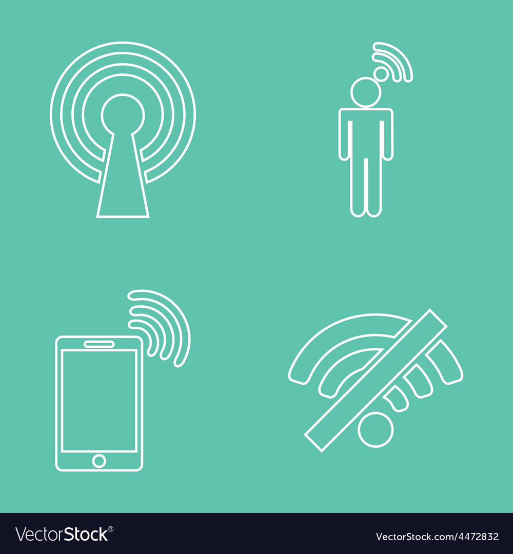 Wifi service vector | Price: 1 Credit (USD $1)