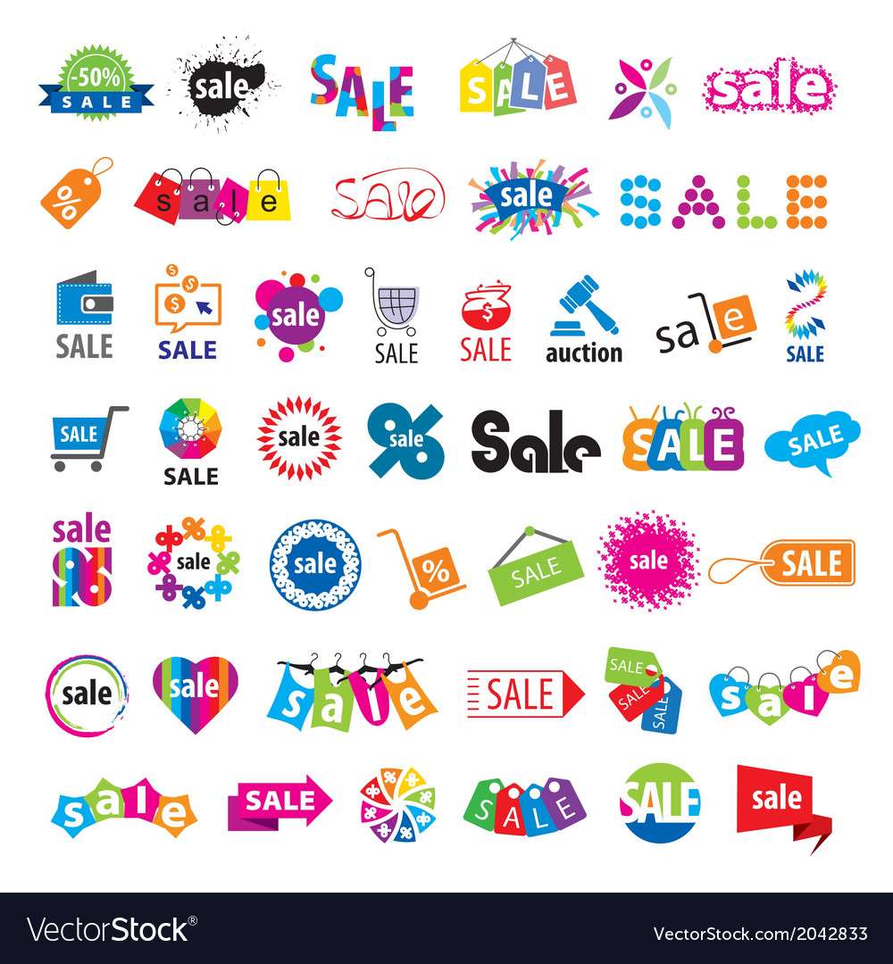Biggest collection of logos sale vector | Price: 1 Credit (USD $1)