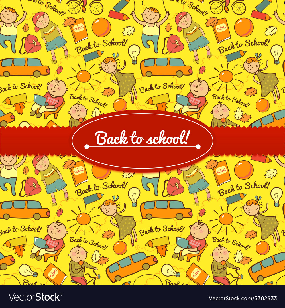 Cheerful background with children vector | Price: 1 Credit (USD $1)