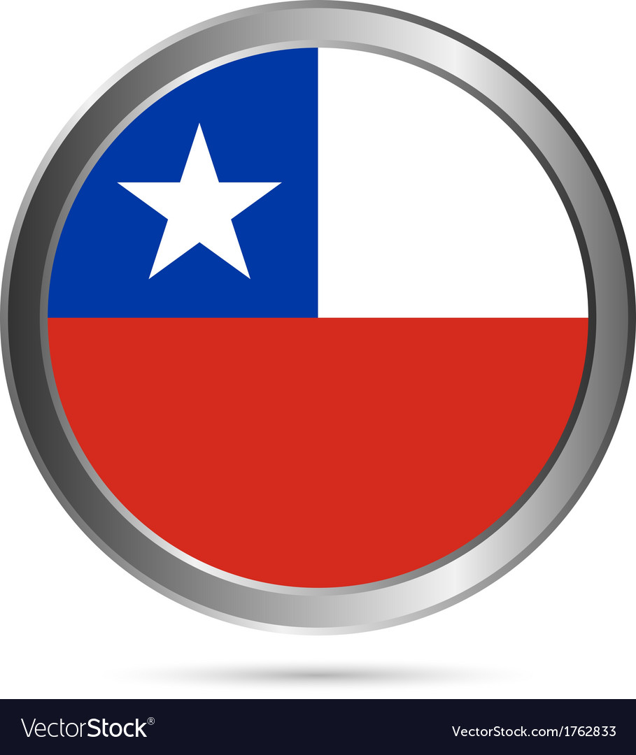 Chile flag button vector | Price: 1 Credit (USD $1)