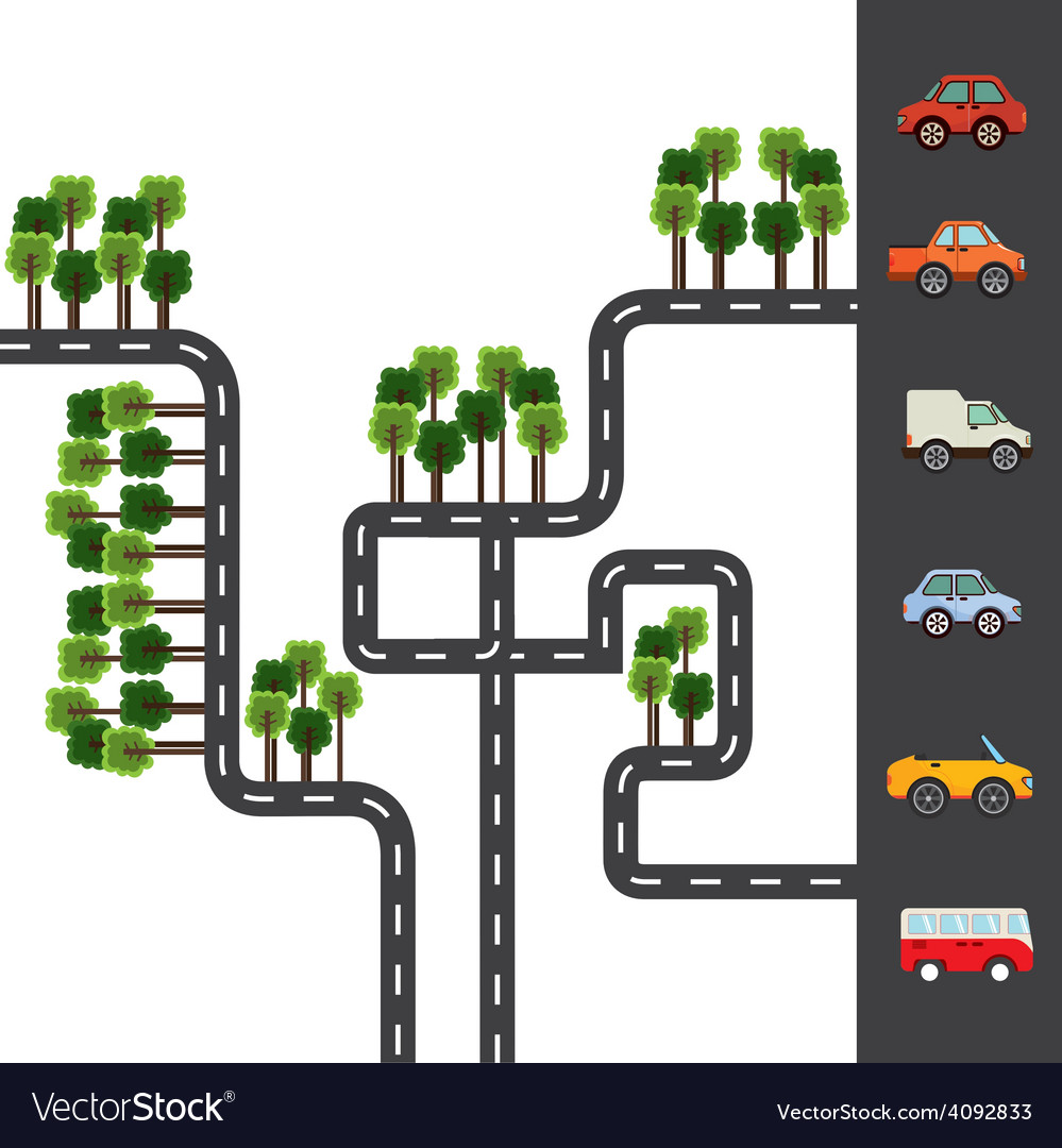 City roads vector | Price: 1 Credit (USD $1)