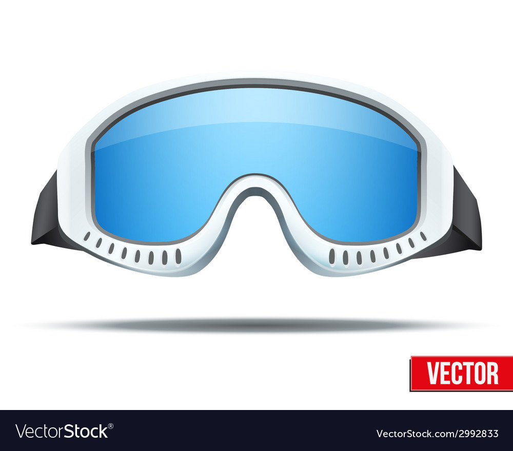 Classic snowboard ski goggles with colorful glass vector | Price: 1 Credit (USD $1)