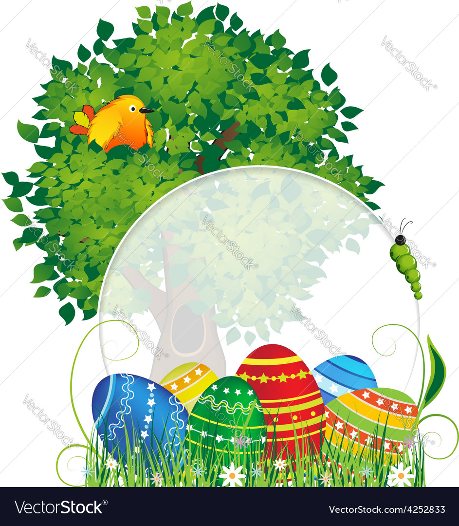 Easter natural background vector | Price: 3 Credit (USD $3)
