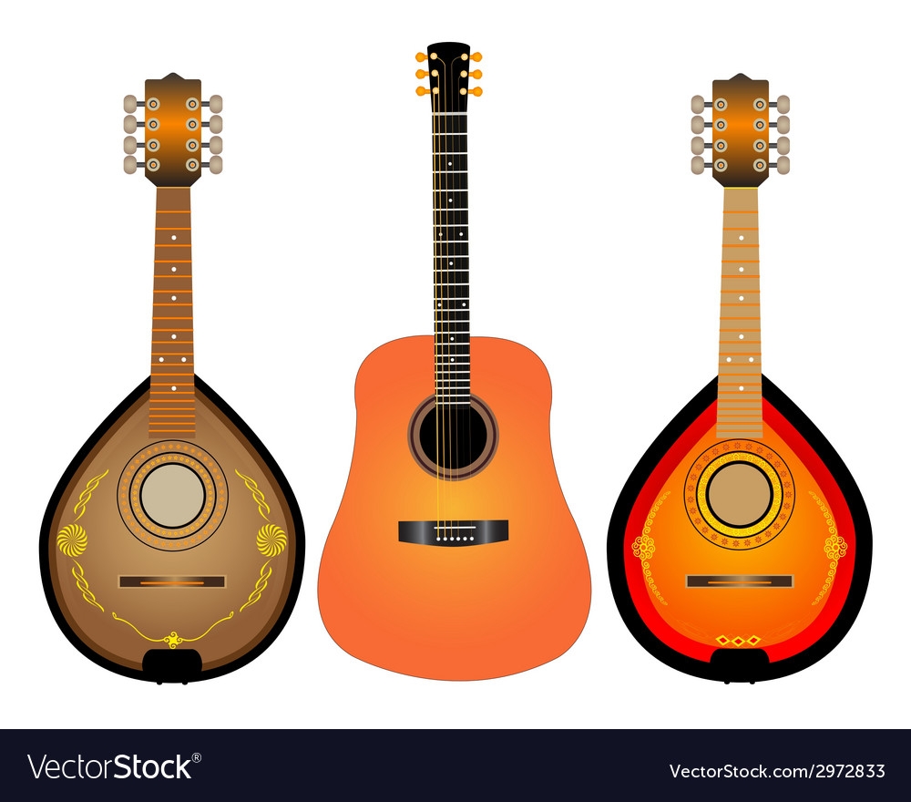 Guitar and two mandalina vector | Price: 1 Credit (USD $1)