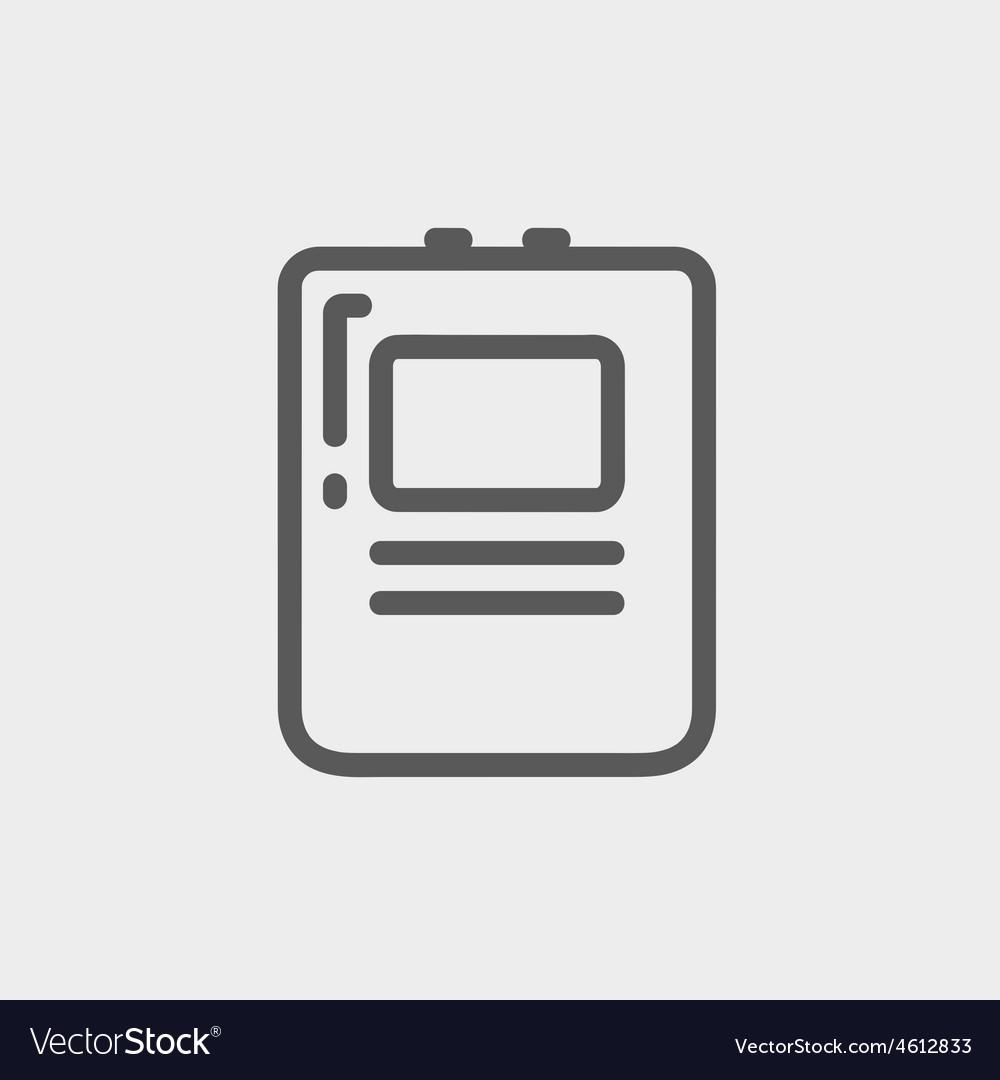 Heart defibrillator thin line icon vector | Price: 1 Credit (USD $1)