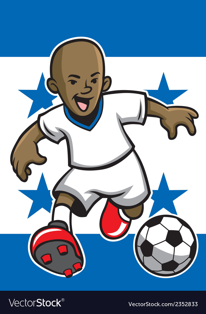 Honduras soccer player with flag background vector | Price: 1 Credit (USD $1)