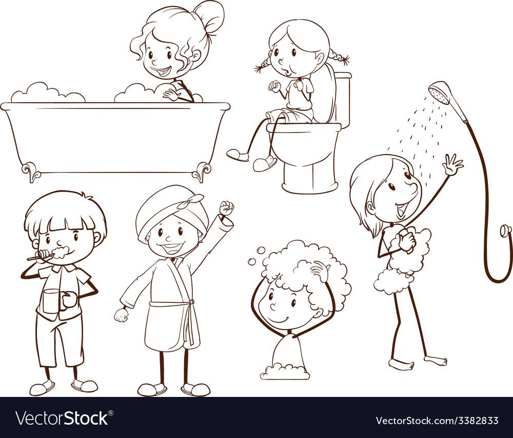 Kids grooming vector | Price: 1 Credit (USD $1)