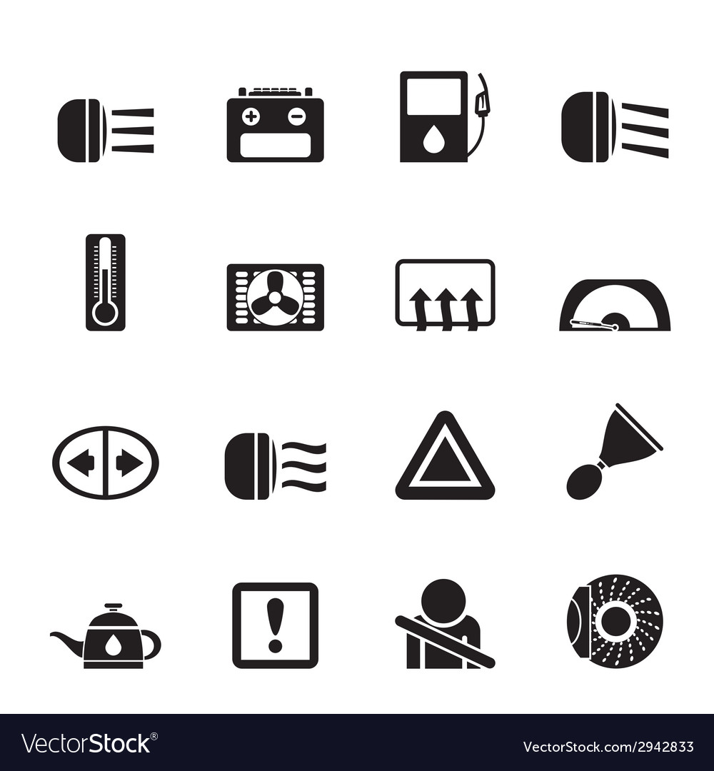 Silhouette car dashboard vector | Price: 1 Credit (USD $1)