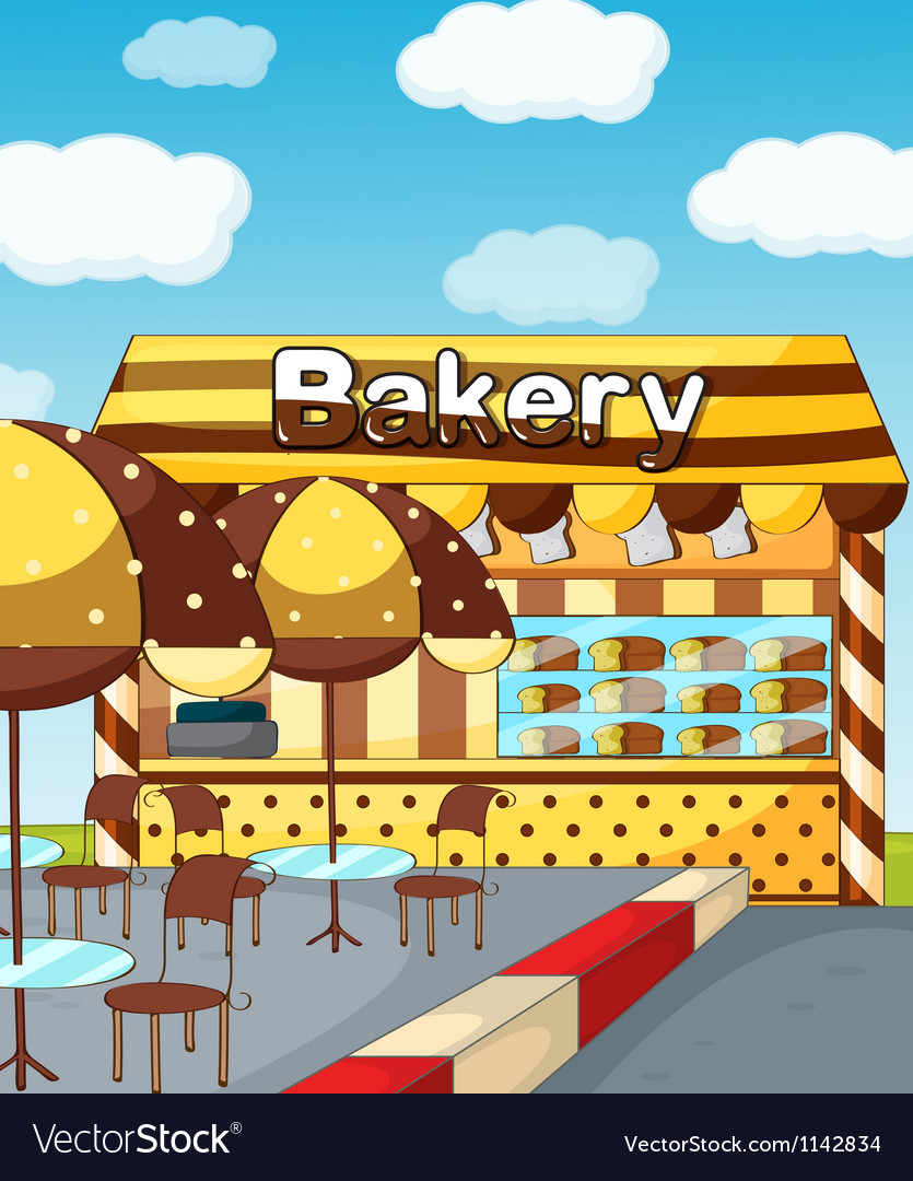 A bakery store vector | Price: 1 Credit (USD $1)