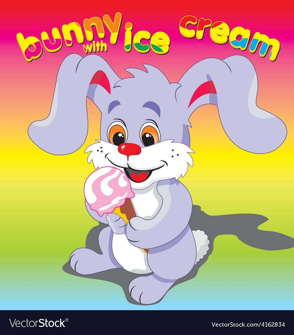 Bunny ice cream vector | Price: 3 Credit (USD $3)