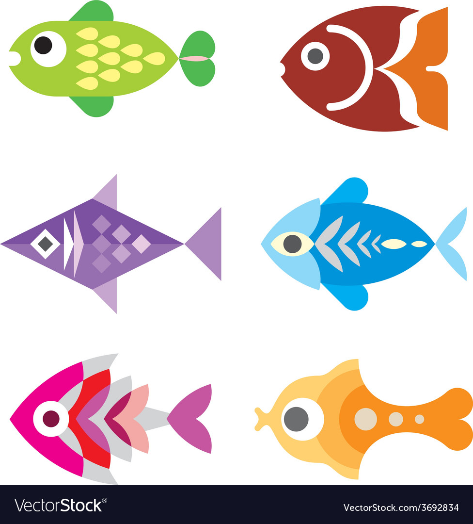 Fish icons vector | Price: 1 Credit (USD $1)
