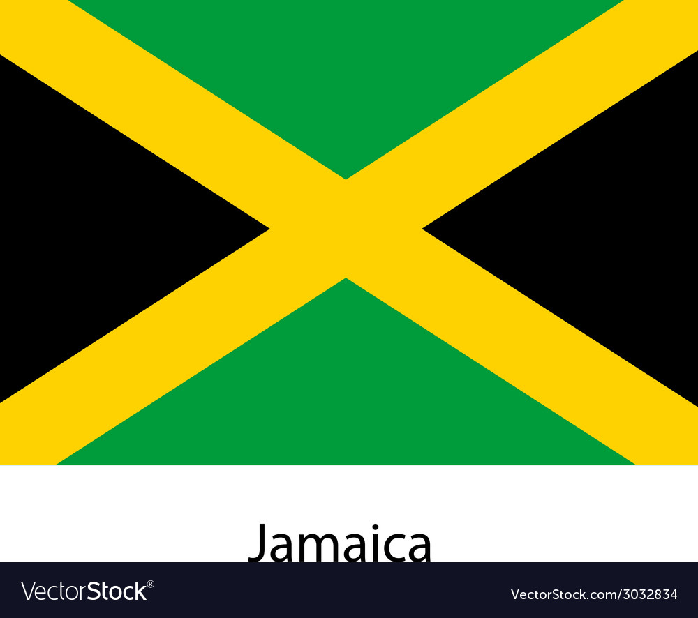Flag of the country jamaica vector | Price: 1 Credit (USD $1)