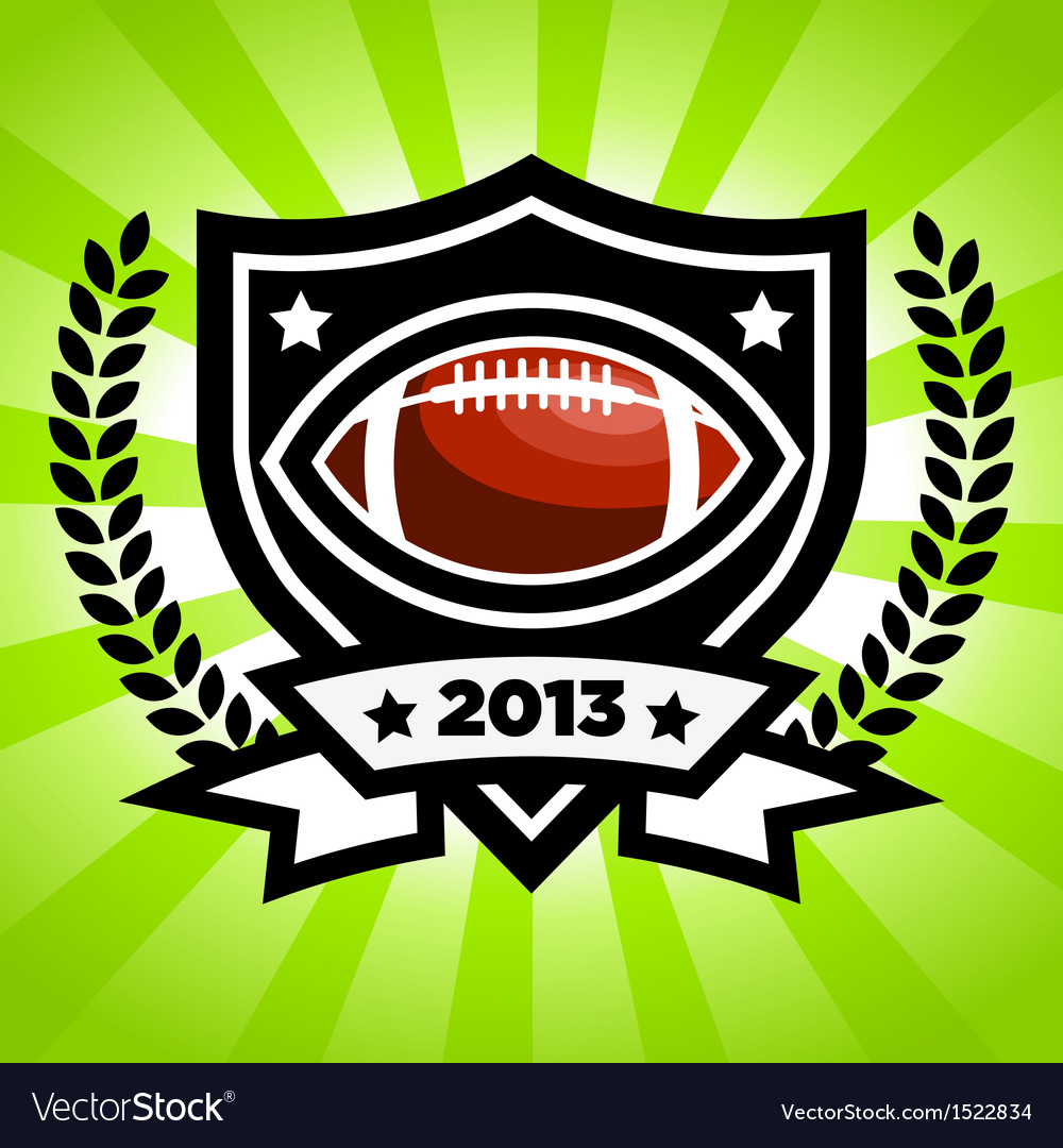 Football emblem vector | Price: 1 Credit (USD $1)