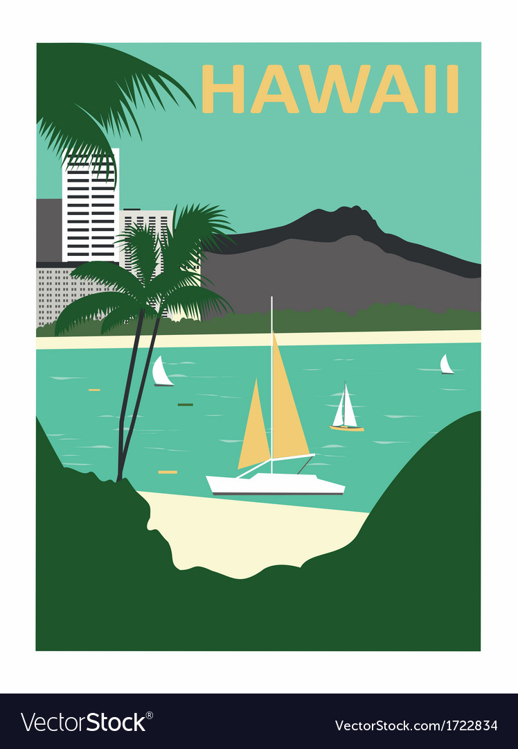 Hawaii usa vector | Price: 1 Credit (USD $1)