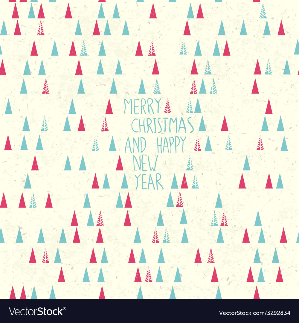 Merry christmas card handdrawn vector   Price: 1 Credit (USD $1)