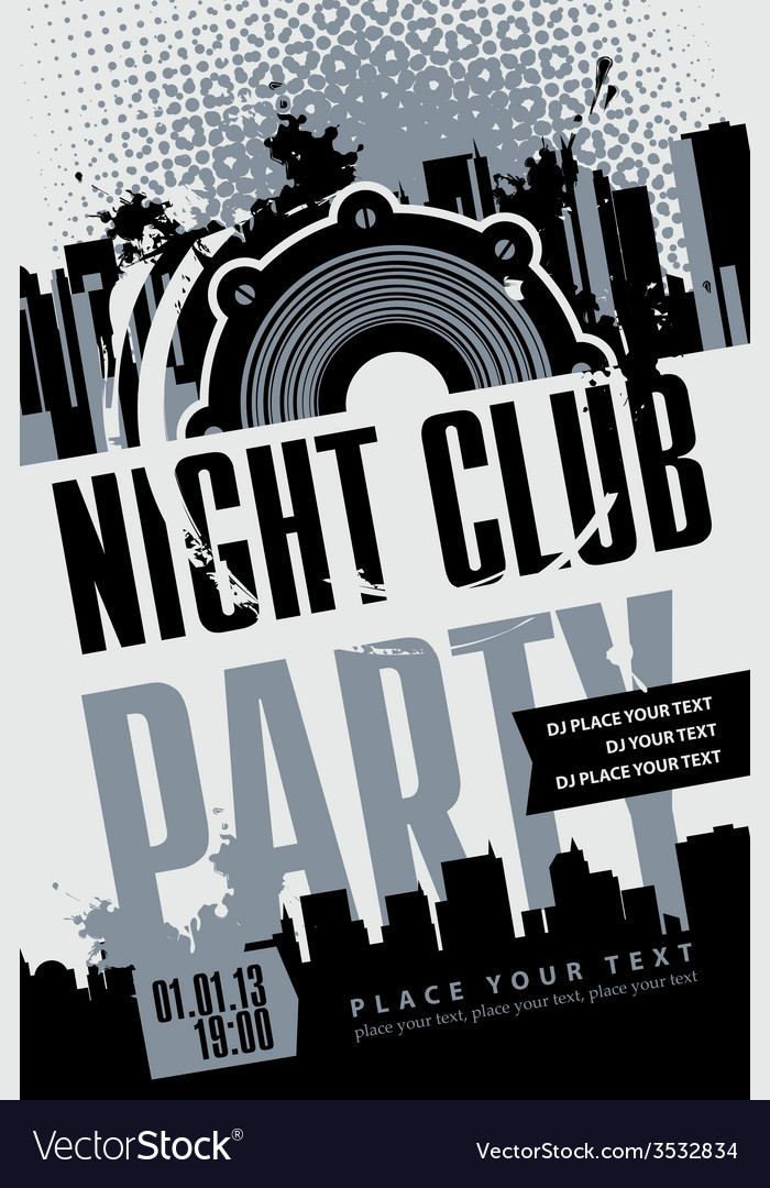 Night club vector | Price: 1 Credit (USD $1)
