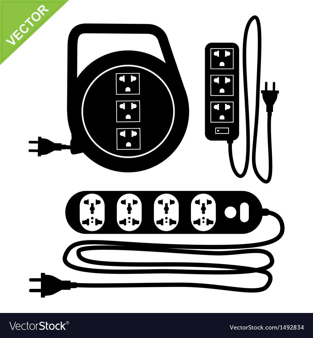 Plug silhouette vector | Price: 1 Credit (USD $1)