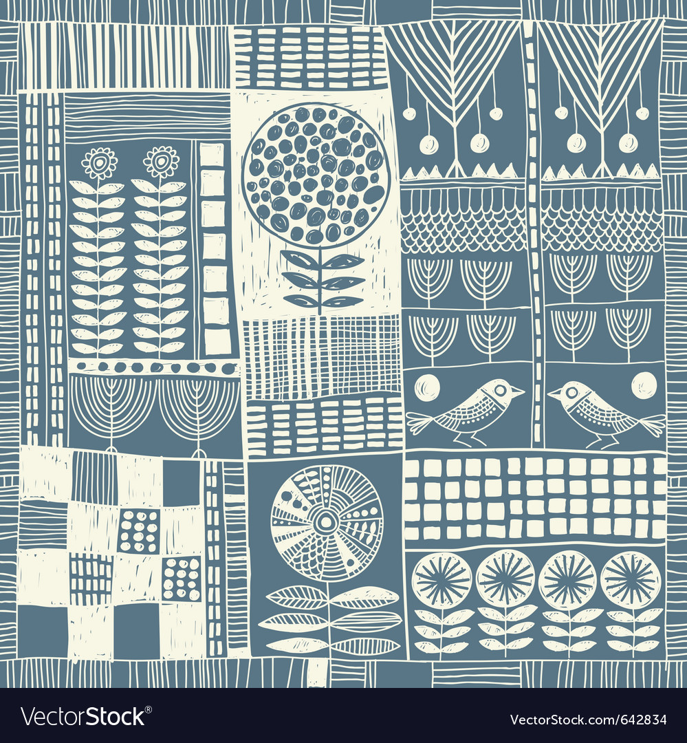 Seamless pattern patchwork vector | Price: 1 Credit (USD $1)