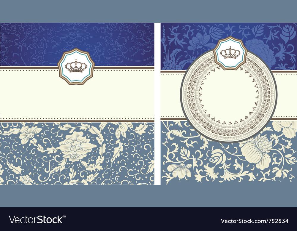 Vintage card set vector | Price: 1 Credit (USD $1)