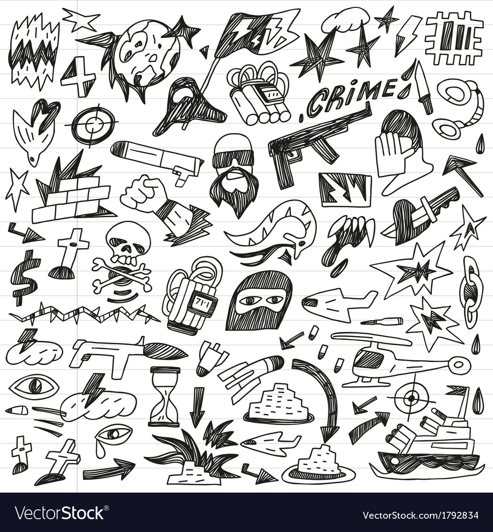 Warcrime - doodles collection vector | Price: 1 Credit (USD $1)