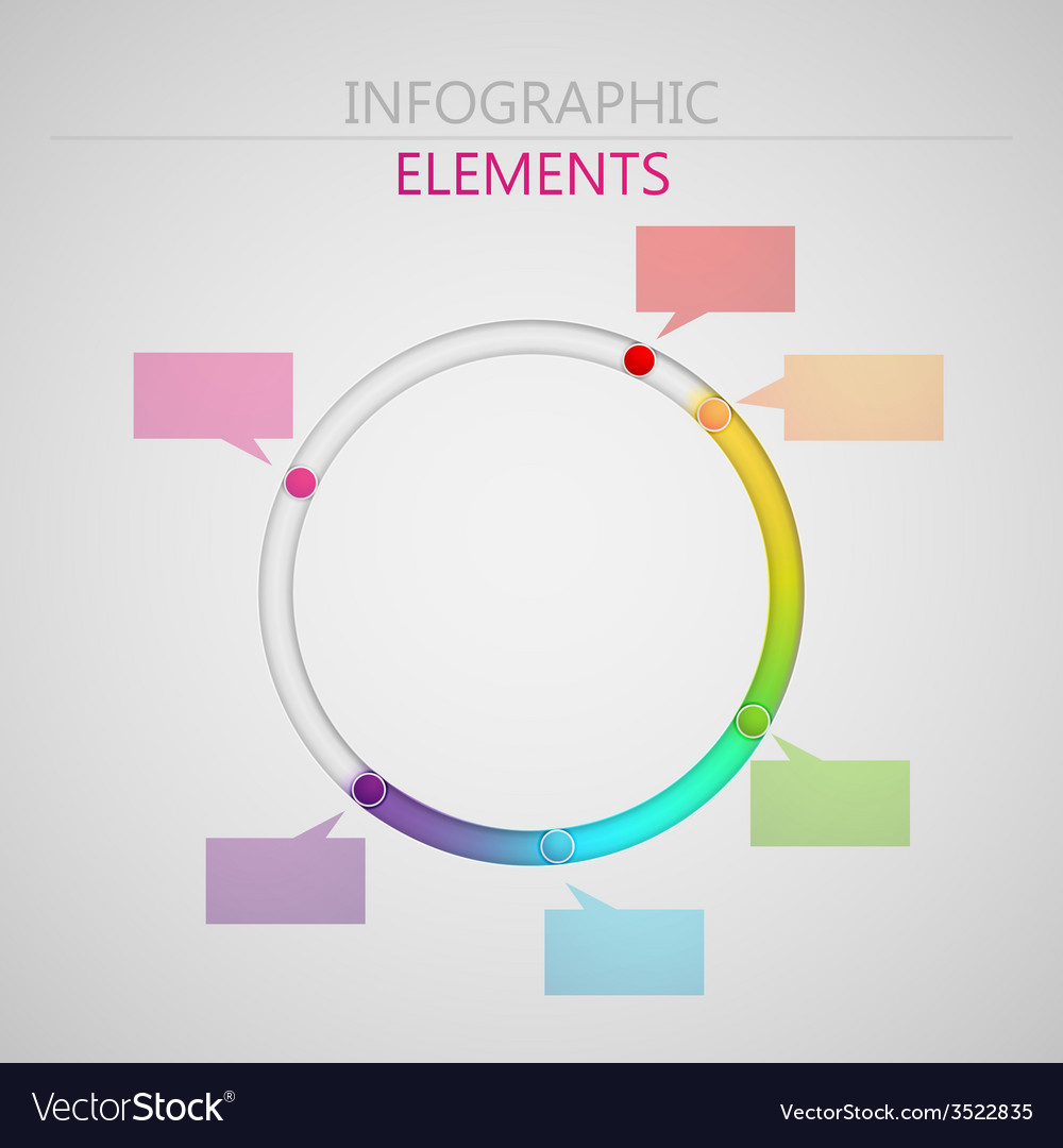 Abstract 3d paper infographic elements for print vector | Price: 1 Credit (USD $1)