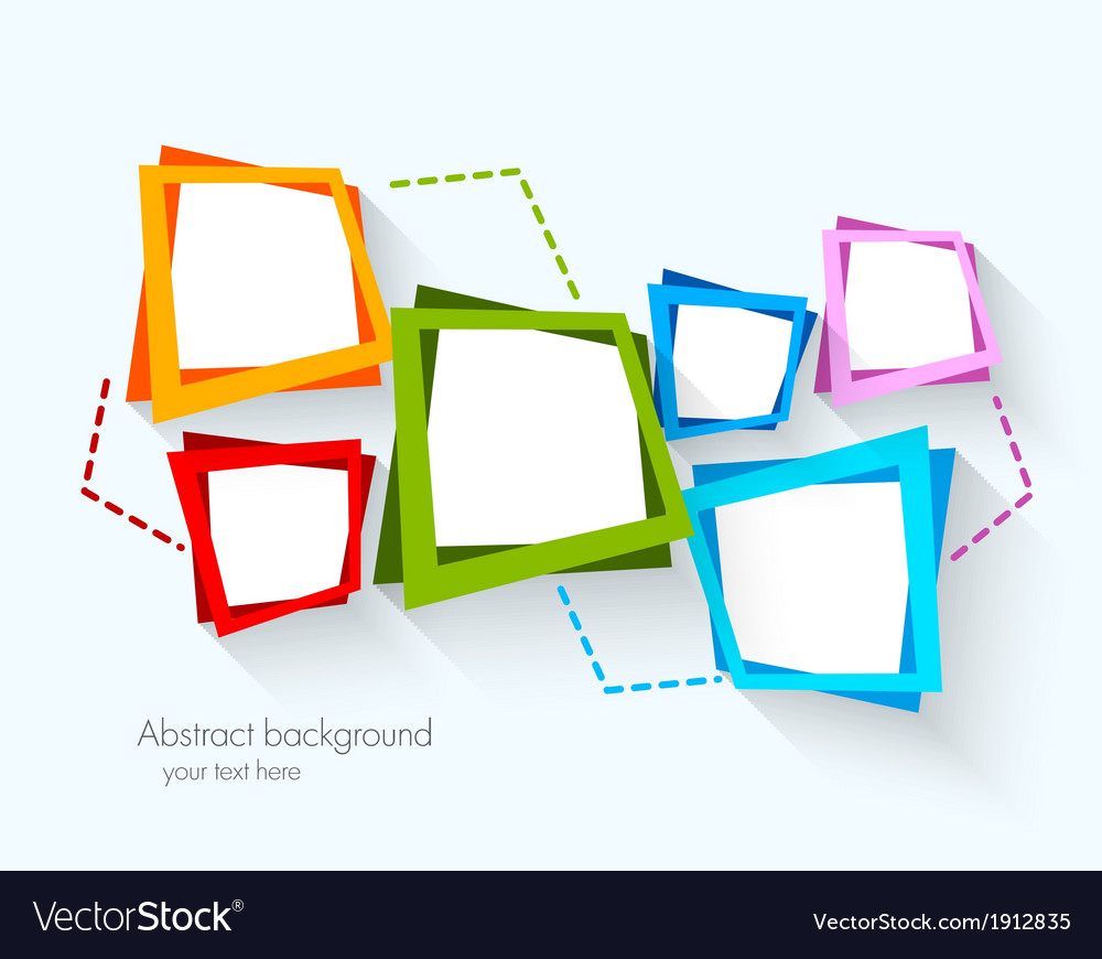 Abstract background with colorful squares vector | Price: 1 Credit (USD $1)