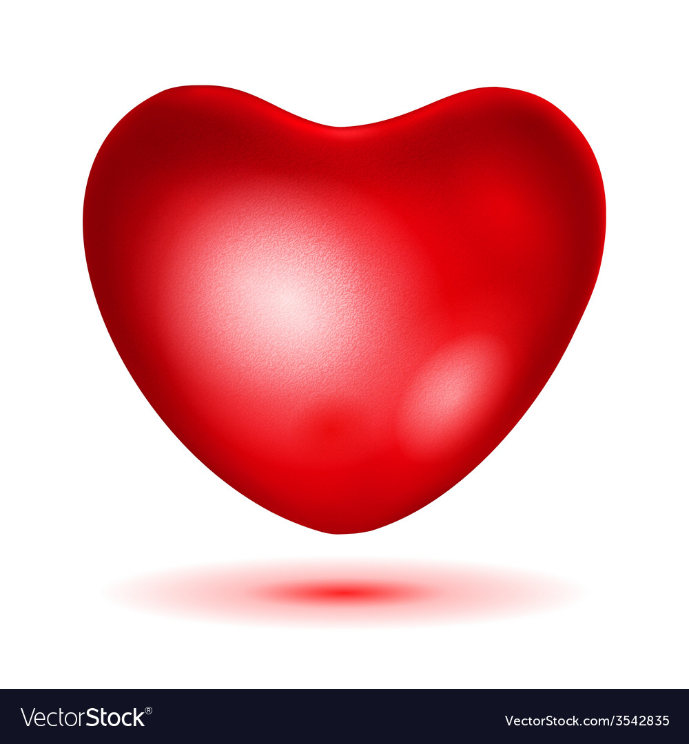 Big red heart vector | Price: 1 Credit (USD $1)