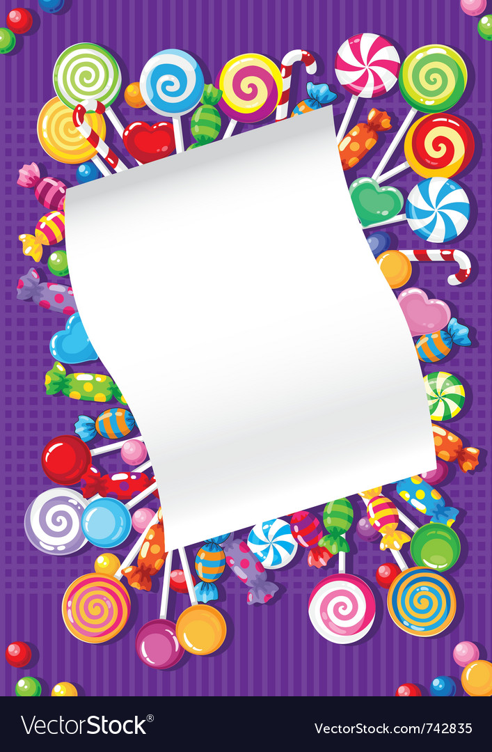 Candy and sweets card vector | Price: 1 Credit (USD $1)