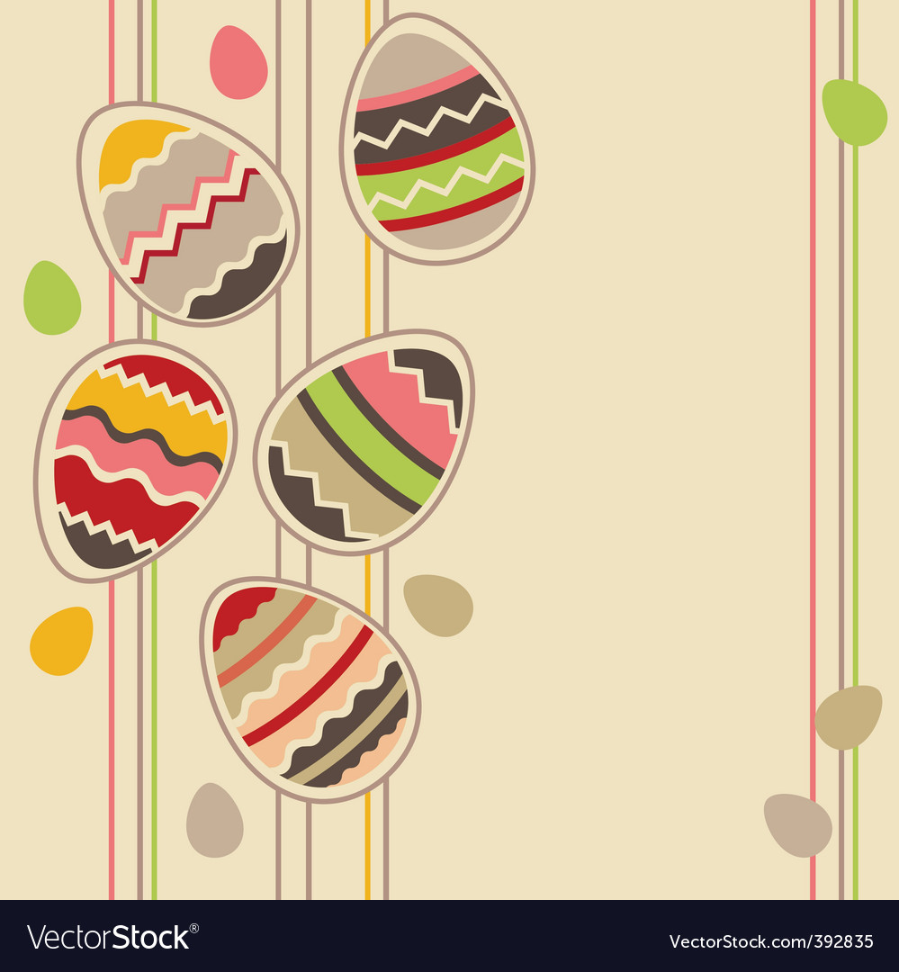 Greeting card with easter eggs vector   Price: 1 Credit (USD $1)