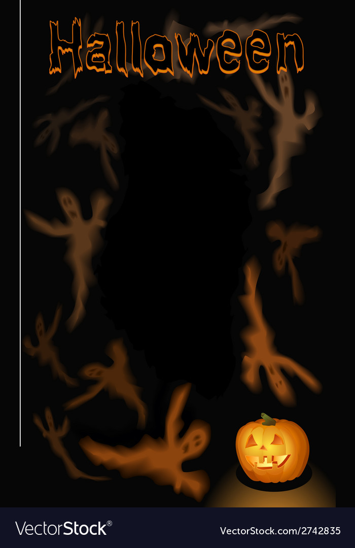Halloween vertical ghosts background vector | Price: 1 Credit (USD $1)