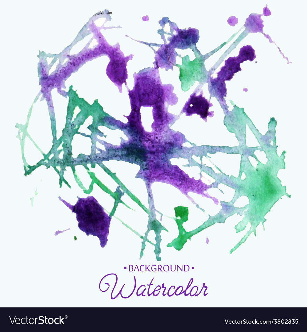 Hand drawn watercolor background stain watercolor vector   Price: 1 Credit (USD $1)